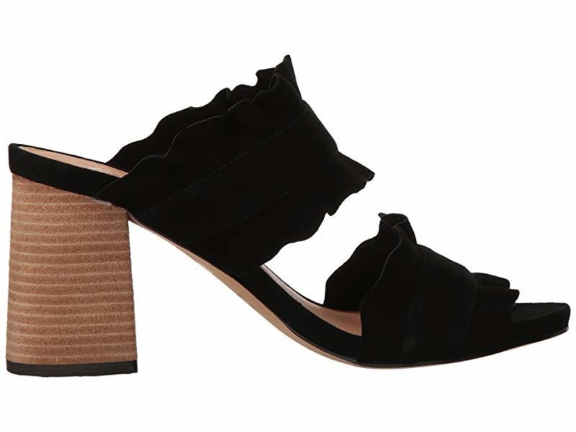 Free People Rosie Ruffle Heel - Black Shoes