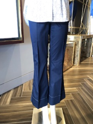 By Malene Birger Navy Flare Pants Pants