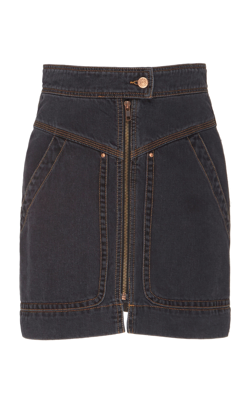 Isabel Marant Étoile Ioline Denim Mini Skirt - Black Skirts