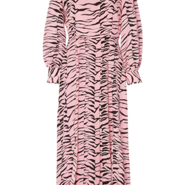 Pink and Black Tiger Print Dress