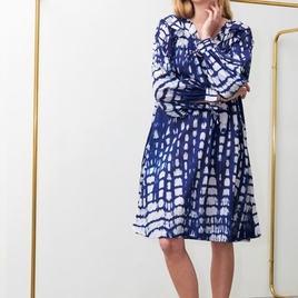 Atlas Navy Midi Dress