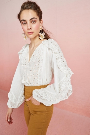 Ulla Johnson Blanche Blouse - Blanc Tops