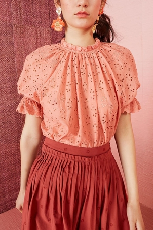 Ulla Johnson Fern Top Coral Tops