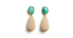 Lizzie Fortunato Turquoise Drop Earrings Jewelry