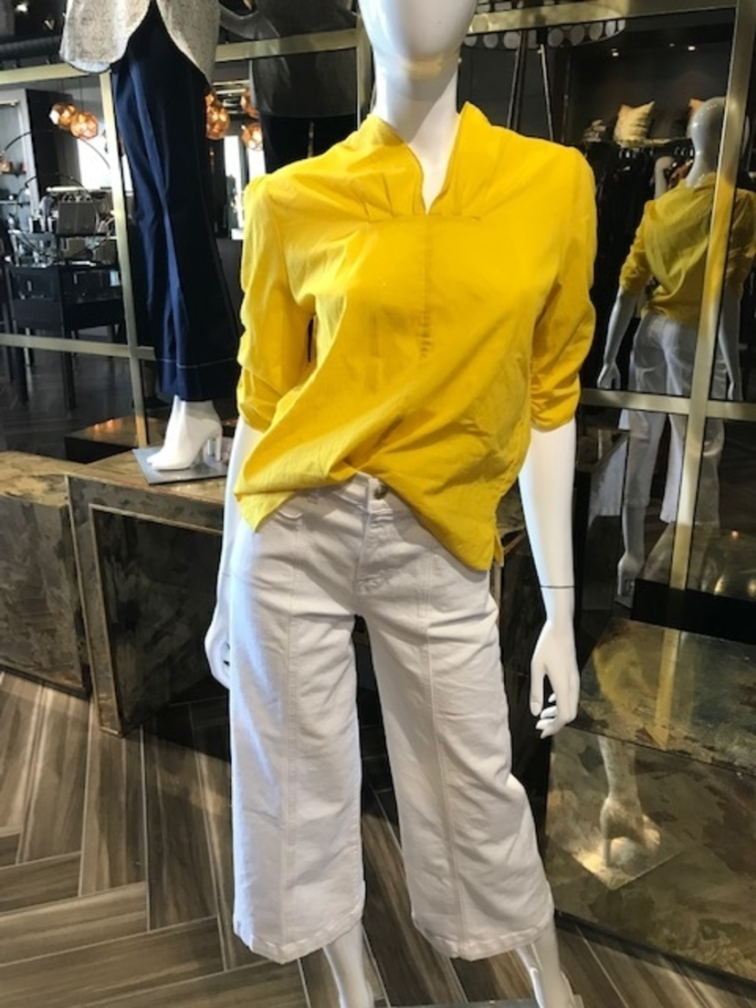 By Malene Birger Yellow V Blouse Tops