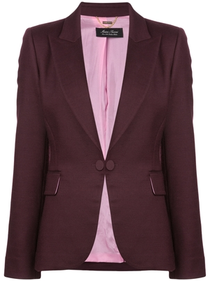 Adam Lippes Purple Blazer Outerwear