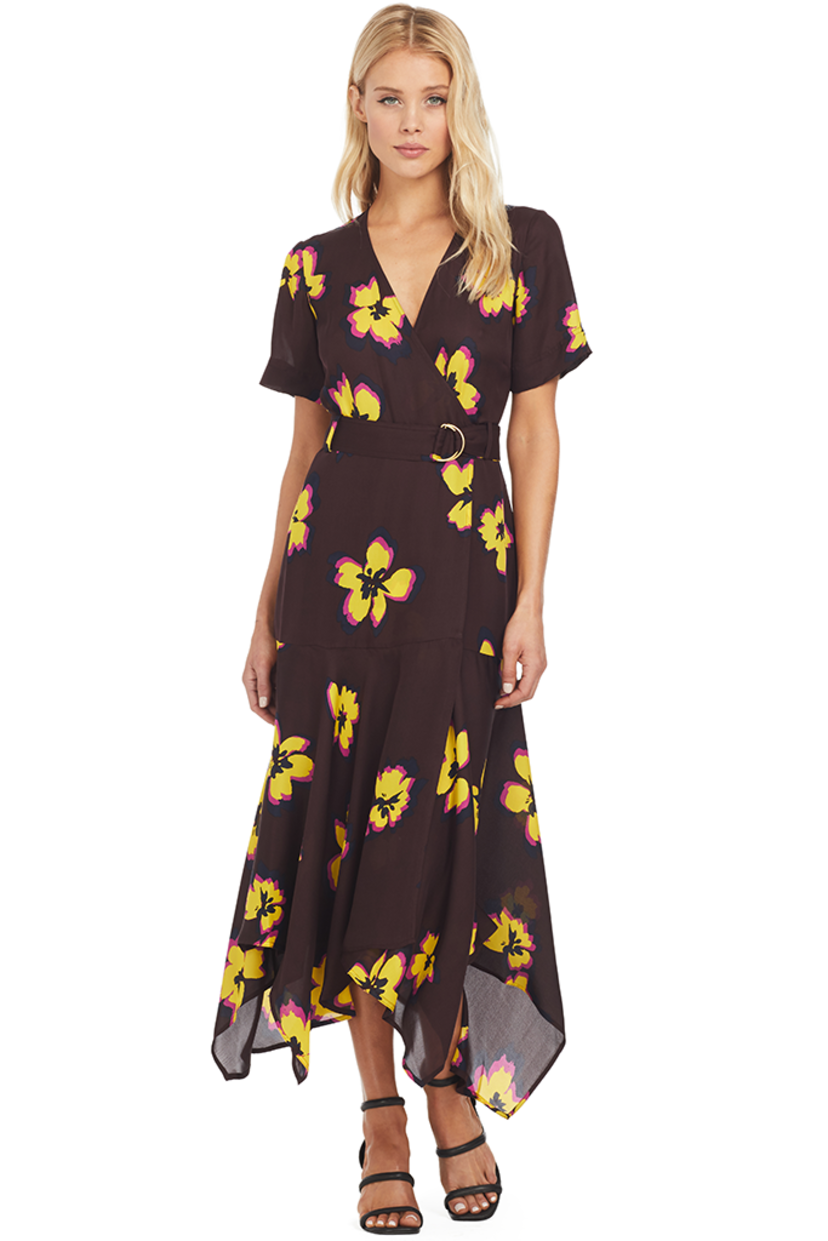 A.L.C. Claire Dress (Chocolate/Yellow Flower) Dresses Sale