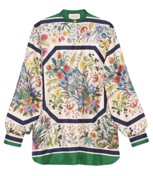 Gucci Floral Blouse Tops