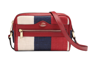Gucci Red, White, and Blue Striped Bag Bags