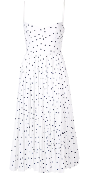 Khaite Sleeveless Polka Dotted Dress Dresses