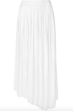 Isabel Marant Pleated Asymmetric White Skirt Skirts