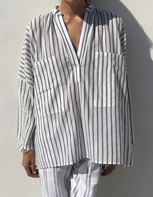 Two Stripe Two Pocket Shirt Tops