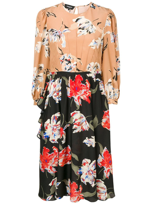 Rochas Onda Floral Silk Dress Dresses