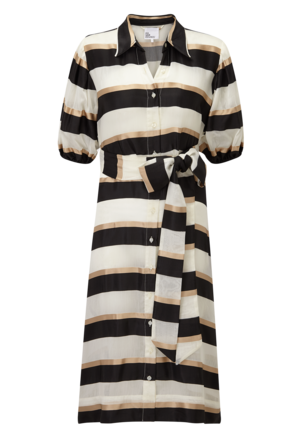 Lisa Marie Fernandez Pouf Sleeve Shirt Dress Dresses