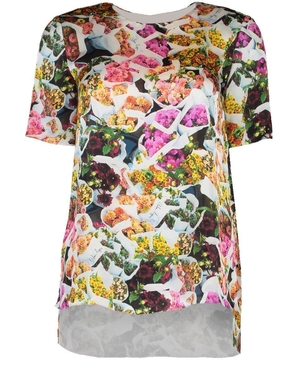 Adam Lippes Silk Floral Blouse Tops