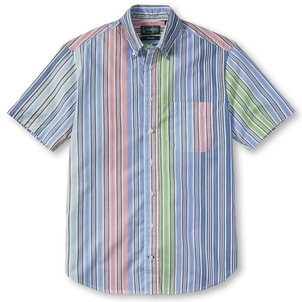 Gitman Vintage BLUE MULTI STRIPE SHIRT Men's
