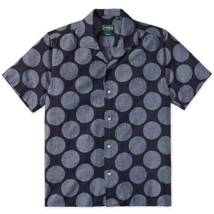 Gitman Vintage DOT CAMP COLLAR SHIRT Men's
