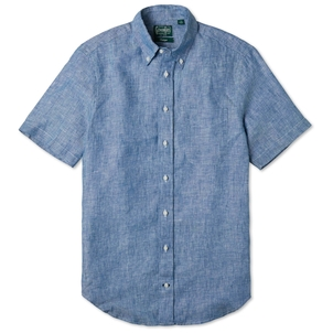 Gitman Vintage CHAMBRAY LINEN SHIRT Men's