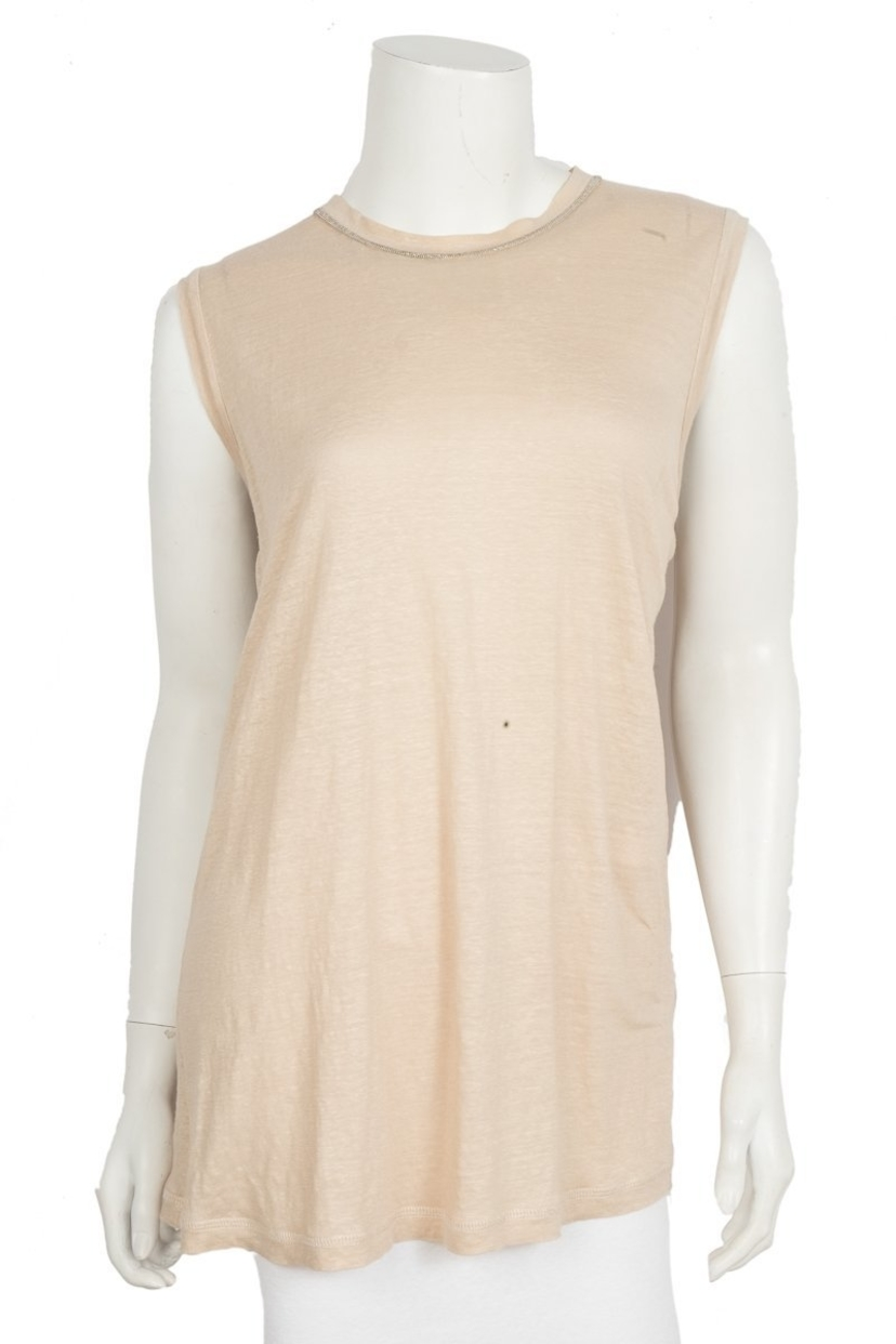 Brunello Cucinelli Brunello Cucinelli Beige Sleeveless Top Sz XXL Tops