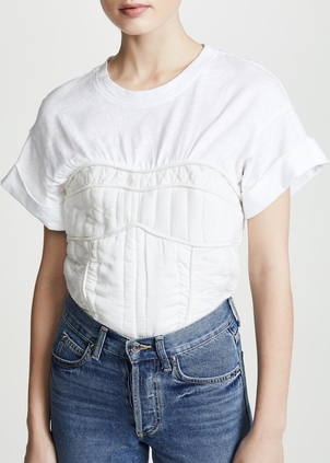 Sea O'Keefe Quilted Corset Tee Tops