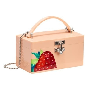 Edie Parker Mini Trunk With Strawberry Inlay Bags