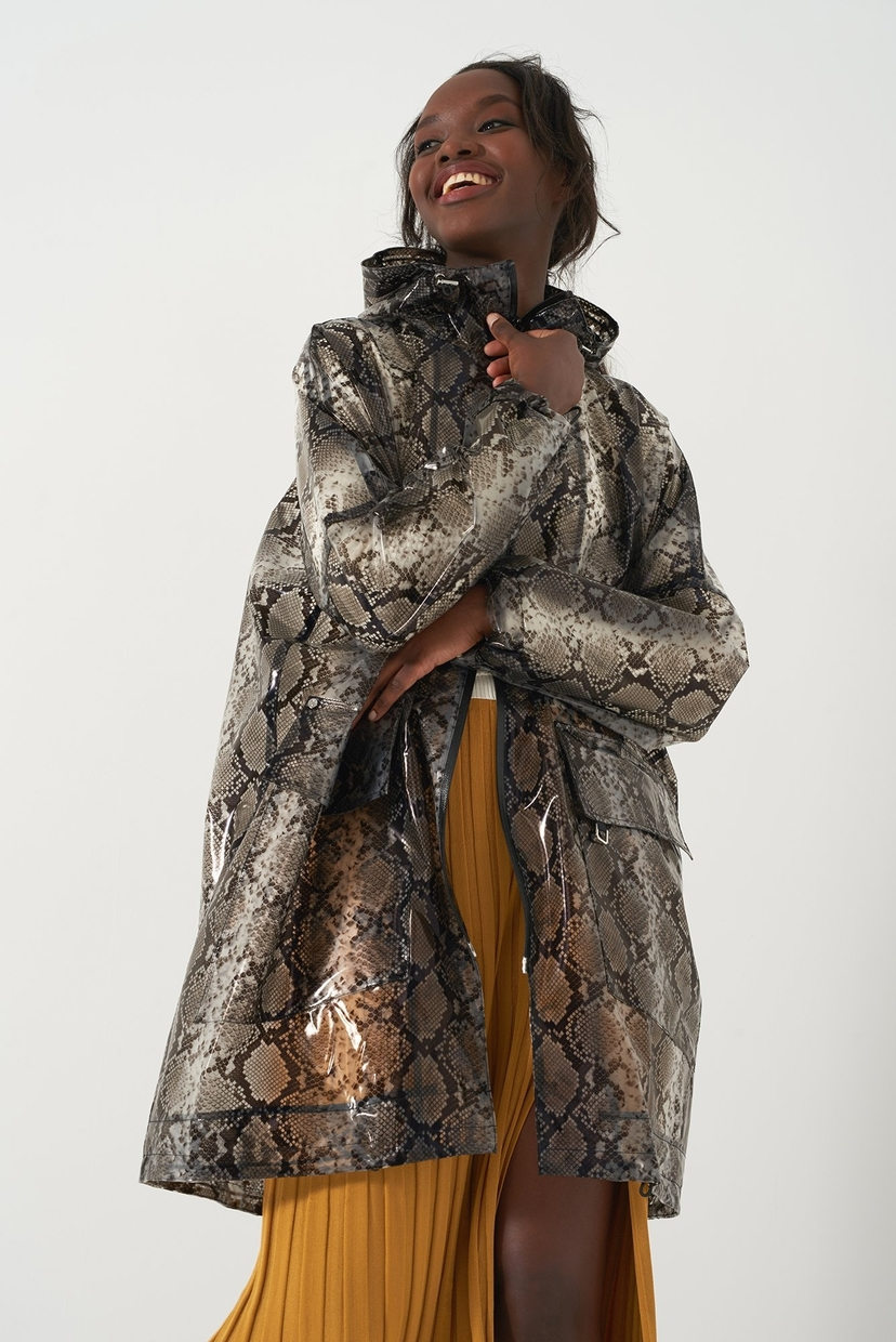 Sosken Honor Snakeskin Raincoat Outerwear
