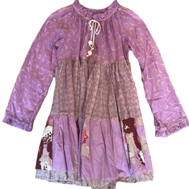 Long Sleeve Short Dress in Lilac
