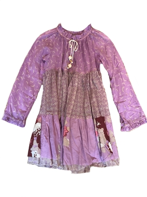 Yvonne S. Long Sleeve Short Dress in Lilac Dresses