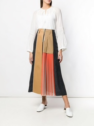 Dorothee Schumacher Dorothee Schumacher Panelled Pleated Skirt Skirts