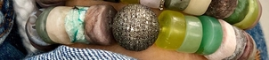The Woods Fine Jewelry Glass Bead Bracelet with Micro Pave Diamond Sphere Bead Jewelry