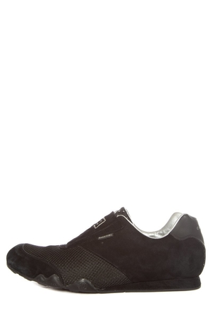 Chanel Chanel Black Suede Slip-On Sneakers SZ 38 Shoes