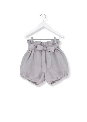 Kids On The Moon Bow Shorts - Grey Kids
