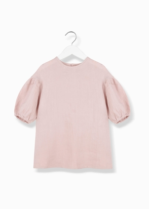 Kids On The Moon Puf Puf Blouse - Pink Kids