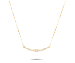 Adina Reyter Small Diamond Stripe Curve Necklace - Y14 Jewelry