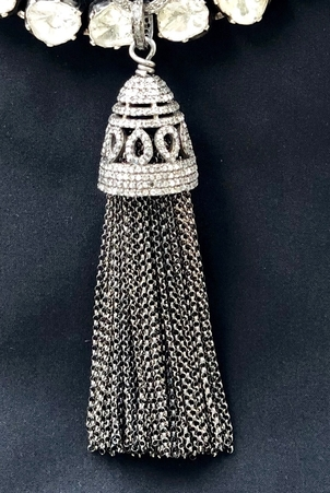 The Woods Fine Jewelry Silver & Diamond Tassel Pendant Jewelry