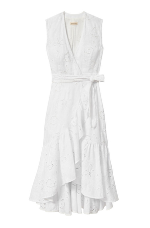 Rebecca Taylor Terri Embroidered Wrap Dress Dresses