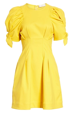 Sea Yellow Puff Sleeve Dress Dresses
