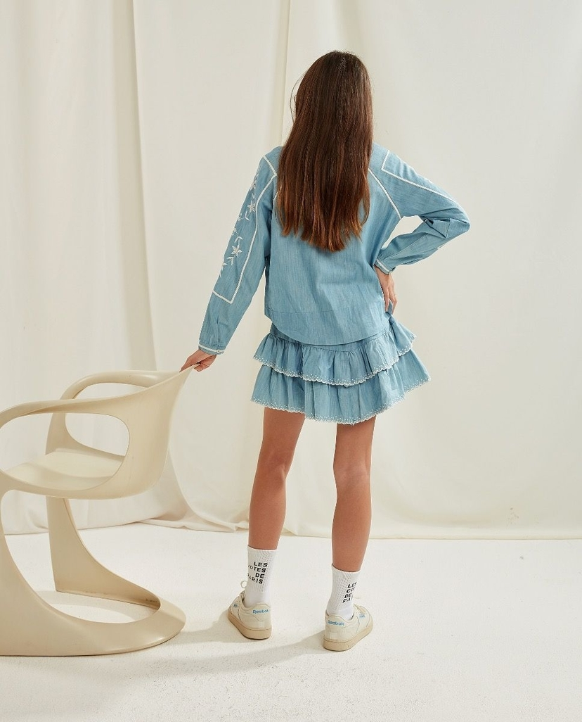 Les Coyotes De Paris Esti Skirt Chambray Kids