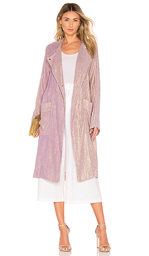 Raquel Allegra CROPPED TRENCH COAT - LILAC Dresses Outerwear