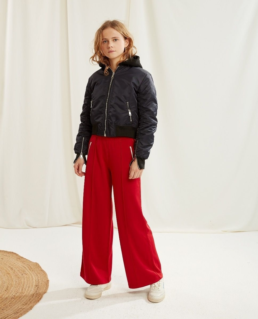 Les Coyotes De Paris Stella Trousers Bright Red Kids
