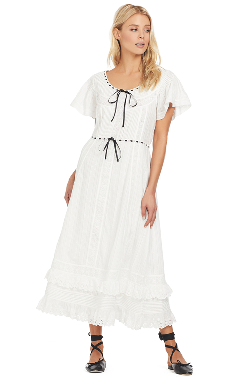 Loveshackfancy Madeline Dress (White) Dresses