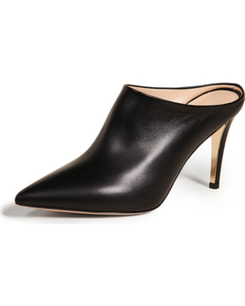 Marion Parke Mona Mule - Black Leather Shoes