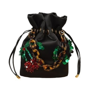 Edie Parker Shorty Bag with Fruit Salad Embroidery Bags