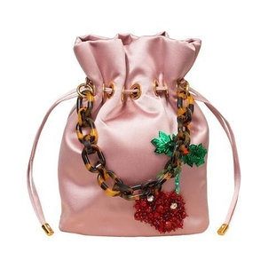 Edie Parker Shorty Bag with Cherry Embroidery Bags