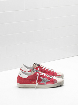 Golden Goose Deluxe Brand Strawberry Suede Superstars Shoes