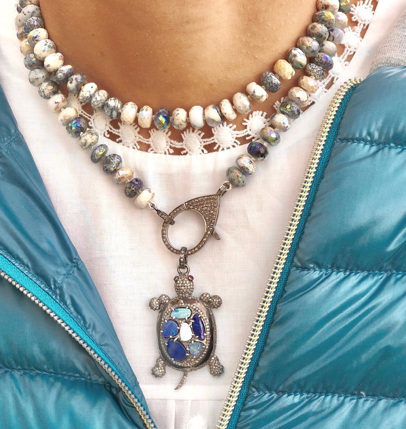 The Woods Fine Jewelry Dendritic Opal Necklace Jewelry