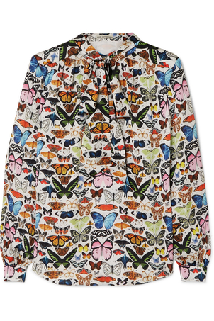 Mary Katrantzou Federika Butterfly Blouse Tops