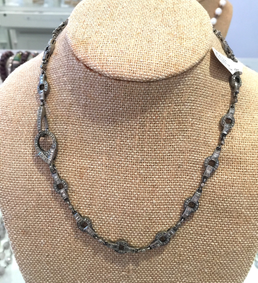 The Woods Fine Jewelry Baguette & Pave Diamond Chain Jewelry