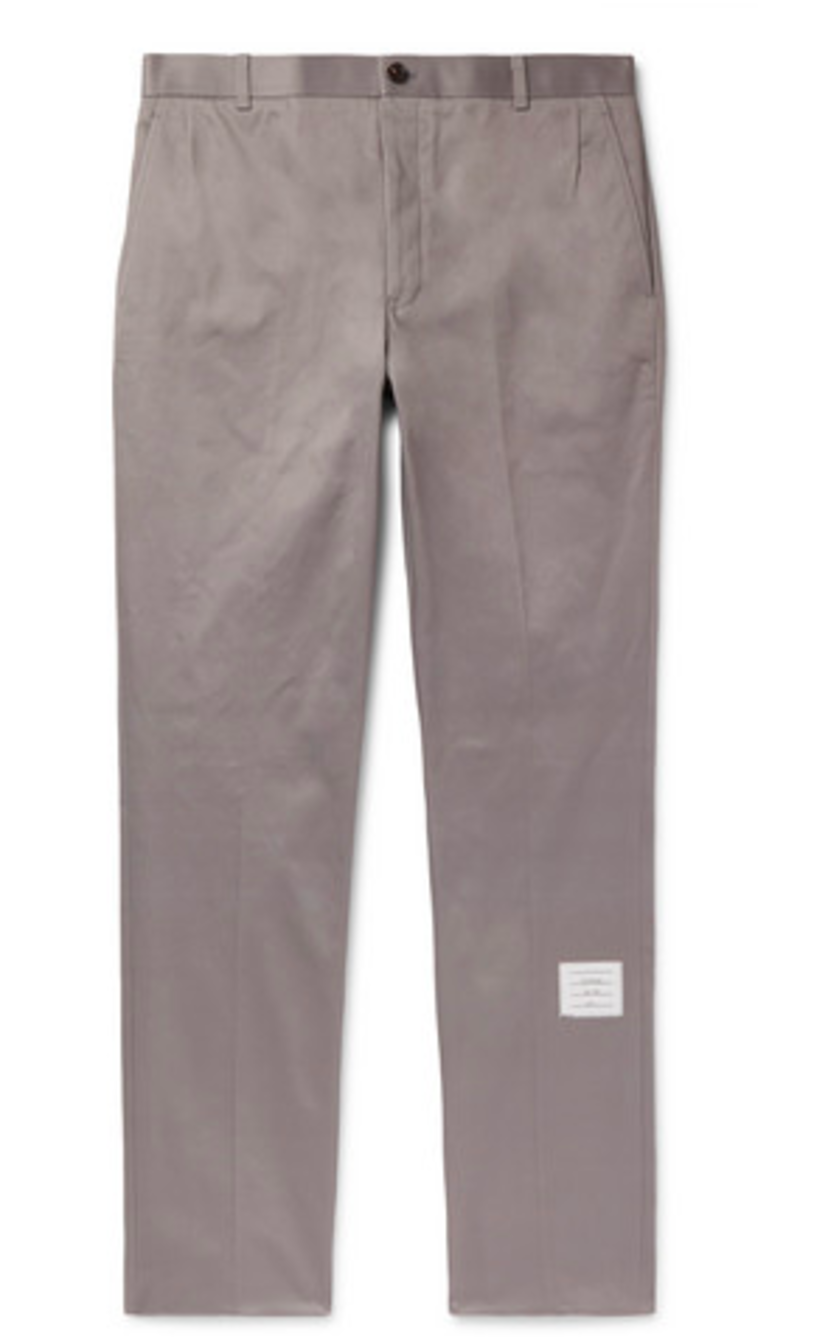 Thom Browne UNCONSTRUCTED CHINO TROUSER Men's