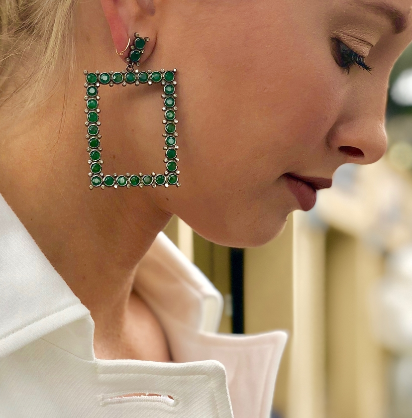 The Woods Fine Jewelry SOLD OUT Emerald Rectangle Earrings Jewelry